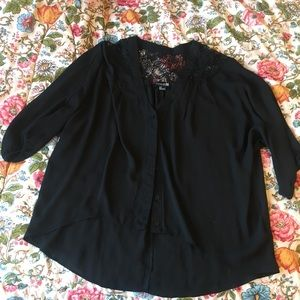 Forever 21 Black Button-up Shirt
